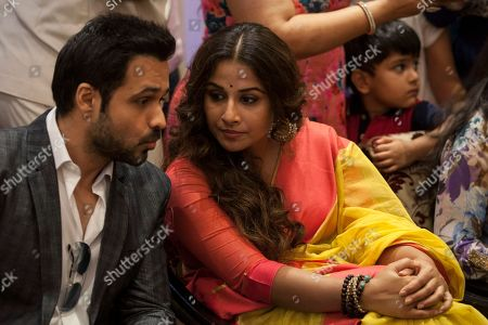 "Vidya Balan, Emran Hashmi Bollywood actress Vidya Balan, right, listens to actor Emran Hashmi during a promotional event of their forthcoming movie ""Hamari Adhuri Kahani"" in New Delhi, India, . Hamari Adhuri Kahani or Our Incomplete Story, a romantic drama is scheduled to hit the theaters on June 12"