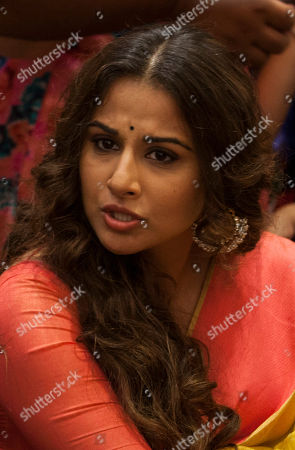 "Vidya Balan Bollywood actor Vidya Balan attends a promotional event of his forthcoming movie ""Hamari Adhuri Kahani"" in New Delhi, India, . Hamari Adhuri Kahani or Our Incomplete Story, a romantic drama is scheduled to hit the theaters on June 12"