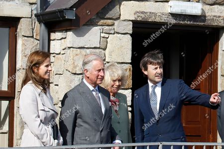 Britain's Prince Charles and the Duchess of Cornwall meet Timothy Knatchbull and his wife Isabella at the Pier Hotel Mullaghmore, Republic of Ireland, close to the spot where Lord Louis Mountbatten was killed in 1979. Prince Charles has paid an emotional tribute to Lord Louis Mountbatten, slain 36 years ago by the Irish Republican Army, as the British royal tours Ireland on a mission of peace and reconciliation