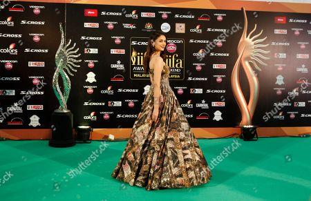 Aditi Rao Hydari Bollywood actress Aditi Rao Hydari poses on the green carpet at the International Indian Film Academy (IIFA) awards in Kuala Lumpur, Malaysia, . The three day event concludes Sunday