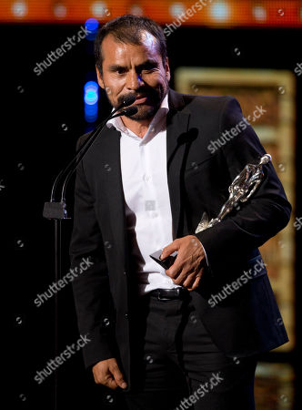 """Noe Hernandez Noe Hernandez accepts the award for best supporting actor for his film, """"La Tirisa"""" during the Ariel Awards in the Palace of Fine Arts in Mexico City, . The Ariel awards recognize excellence in motion picture making, such as acting, directing and screen writing in Mexican cinema"""