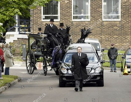 The funeral procession of comedian Bernard Manning