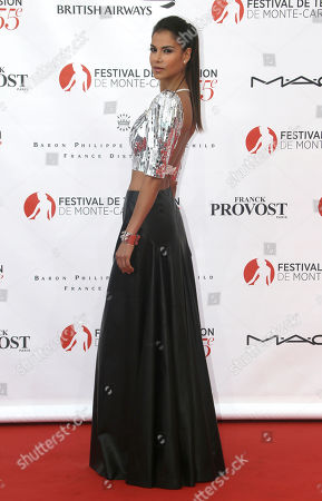 Colombian and French actress Catalina Denis poses during the opening ceremony of the 2015 Monte Carlo Television Festival, in Monaco