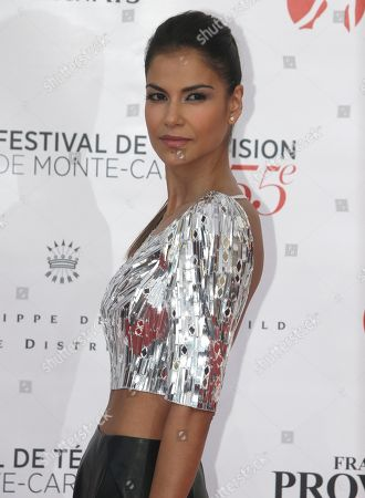 Stock Picture of Colombian and French actress Catalina Denis poses during the opening ceremony of the 2015 Monte Carlo Television Festival, in Monaco
