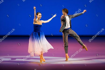 Olga Smirnova, Semion Chudin Bolshoi Ballet soloists and Benois de la Danse laureates Olga Smirnova and Semion Chudin perform the Adagio from the Taming of the Shrew, during a Nominees Gala Concert in the Bolshoi Theater in Moscow, Russia