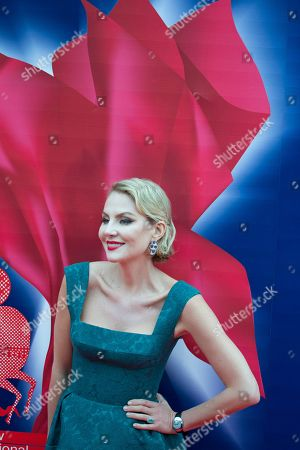Stock Picture of Renata Litvinova Russian actress and director Renata Litvinova poses for photographers at the opening ceremony of the 37th Moscow International Film Festival in Moscow, Russia
