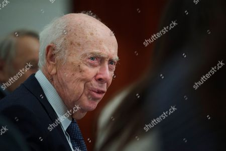 James Watson U.S. Nobel laureate biologist James Watson speaks during his visit to the Russian Academy of Sciences, in Moscow, Russia, . Watson, who was awarded Nobel prize in 1962 for a discovery in the DNA studies, said he was going to give support to young scientists from Russia and China. His Nobel medal that was sold at an auction to Russian businessman Alisher Usmanov last year, was returned to him during his visit