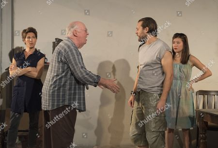 Tamsin Greig as Empty, David Calder as Gus, Lex Shrapnel as V, Katie Leung as Sooze