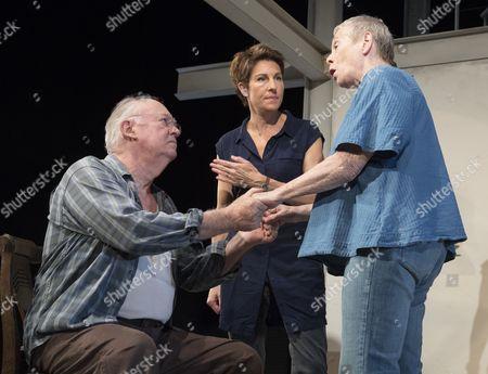 Stock Picture of David Calder as Gus, Tamsin Greig as Empty, Sara Kestelman as Clio,