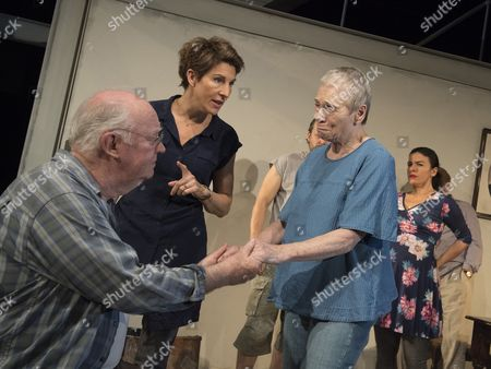 Editorial image of 'The Intelligent Homosexual's Guide to Capitalism and Socialism with a key to the Scriptures' Play by Tony Kushner performed at Hampstead Theatre, London, UK, 24 Oct 2016