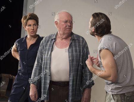 Tamsin Greig as Empty, David Calder as Gus, Lex Shrapnel as V