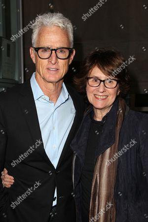 Stock Image of John Slattery and Delia Ephron