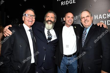 David Permut, Mel Gibson, Terry Benedict and Bill Mechanic