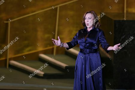 Stock Picture of Andrea Rost Andrea Rost performs with the Hungarian State Opera at United Nations headquarters, . The concert was presented on the occasion of United Nations Day, which celebrates the entry into force of the U.N. Charter in 1945