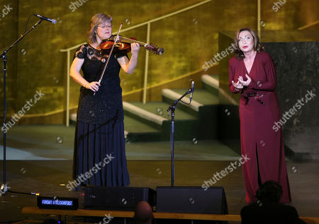 Stock Image of Veronika Botos, Andrea Rost Andrea Rost, right, and Veronika Botos perform with the Hungarian State Opera at United Nations headquarters, . The concert was presented on the occasion of United Nations Day, which celebrates the entry into force of the U.N. Charter in 1945