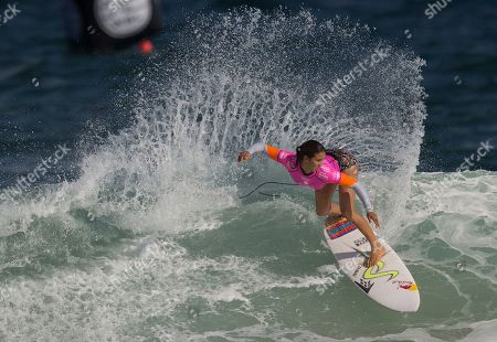 Sally Ftizgibbons Australia's Sally Fitzgibbons competes in the first round of the 2015 Oi Rio Pro World Surf League competition at Barra da Tijuca beach in Rio de Janeiro, Brazil