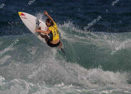 Carissa Moore Hawaiian surfer Carissa Moore competes in the first round of the 2015 Oi Rio Pro World Surf League competition at Barra da Tijuca beach in Rio de Janeiro, Brazil
