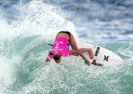 Lakey Peterson U.S. Lakey Peterson competes in the first round of the 2015 Oi Rio Pro World Surf League competition at Barra da Tijuca beach in Rio de Janeiro, Brazil