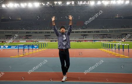Liu Xiang Former Olympic champion hurdler Liu Xiang waves to spectators during his retirement ceremony at the IAAF Diamond League Track and Field in Shanghai, China. Liu, one of China's best-known athletes, says he is getting a divorce after a nine-month marriage to actress Ge Tian. Liu, who won gold in the 110-meter hurdles at the 2004 Athens Olympics, announced the divorce Thursday, June 25 on his personal social media account, citing incompatibility