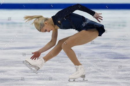 Kiira Korpi Kiira Korpi of Finland performs during the Ladies Short Program in the ISU World Figure Skating Championship 2015 held at the Oriental Sports Center in Shanghai, China