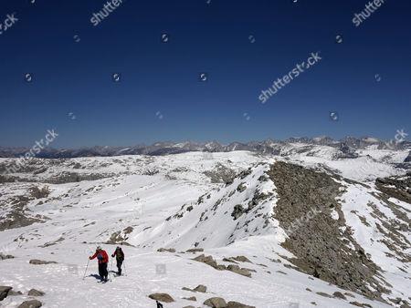Editorial image of Drought-Skier Seeking Snow