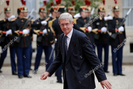 Chairman of the board of French nuclear group Areva Philippe Varin arrives at the Elysee Palace to attend a state diner in the honor of Singapore President Tony Tan in Paris, France