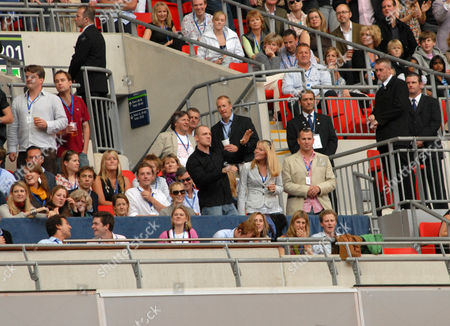 Lady Jane Fellowes, Zara Phillips, Mike Tindall, Autumn Kelly and Peter Phillips