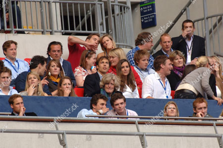 Prince William (bottom left) and Kate Middleton (level above, right of centre, white top) Lady Jane Fellowes