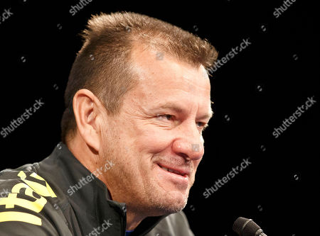 Brazil's soccer team coach Carlos Dunga, speaks to the media during a press conference prior to a training session of the Brazil national soccer team at Stade de France stadium in Saint Denis, outside Paris, . Brazil will play against France in an International friendly soccer match at Stade de France on Thursday