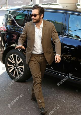 Jury member Jake Gyllenhall arrives ahead of the 68th international film festival, Cannes, southern France, . The festival opens on Wednesday, May 13 and runs until Sunday, May 24