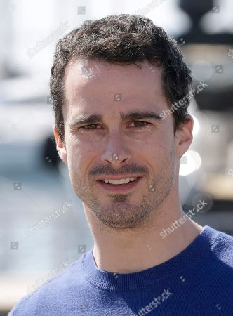 """Canadian actor Patrick Hivon poses for photographers during the MIPTV, International Television Programme Market, in Cannes, southern France. Patrick Hivon presents """"Missing"""", an Interactive Thriller proposing a new entertainment format for digital platforms where viewers interact with a live-action environment to solve puzzles and help the characters progress in the story"""
