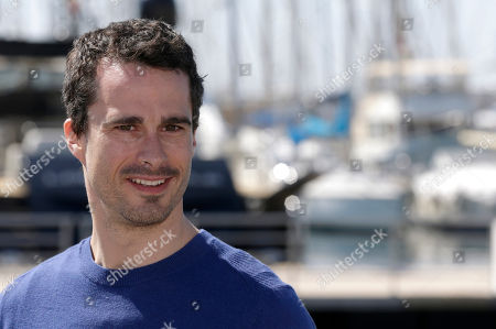 """Canadian actor Patrick Hivon poses for photographers during the MIPTV International Television Programme Market, in Cannes, southern France. Patrick Hivon presents """"Missing"""", an Interactive Thriller proposing a new entertainment format for digital platforms where viewers interact with a live-action environment to solve puzzles and help the characters progress in the story"""