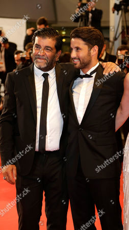Producer Alain Attal and Abdel Addala for the screening of the film Mon Roi (My King) at the 68th international film festival, Cannes, southern France