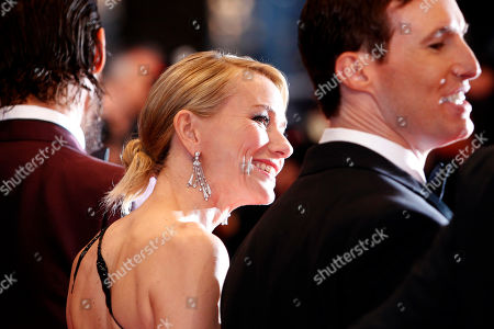 From right, screenwriter Chris Sparling, actors Naomi Watts, and Matthew McConaughey pose for photographers upon arrival for the screening of the film The Sea of Trees at the 68th international film festival, Cannes, southern France