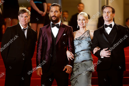From left, director Gus Van Sant, actors Matthew McConaughey, Naomi Watts and screenwriter Chris Sparling pose for photographers upon arrival for the screening of the film The Sea of Trees at the 68th international film festival, Cannes, southern France