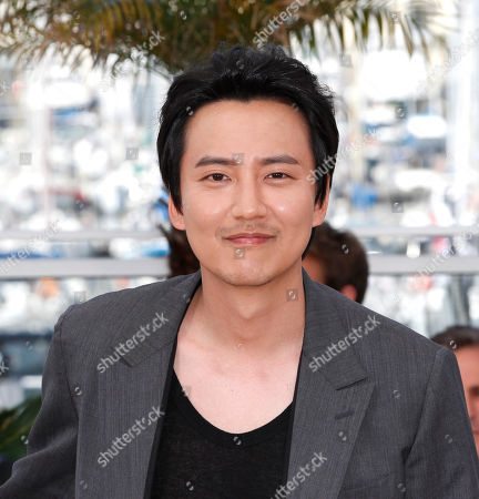 Kim Nam-gil poses for photographers during a photo call for the film Mu-roe-han (The Shameless), at the 68th international film festival, Cannes, southern France
