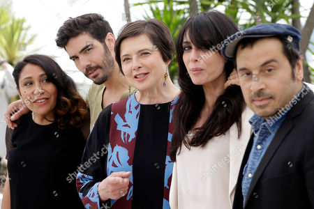 From left, jury members Haifaa Al-Mansour, Tahar Rahim, Isabella Rossellini, Nadine Labaki, and Panos H. Koutras pose for photographers during a photo call for the jury of Un Certain Regard, at the 68th international film festival, Cannes, southern France