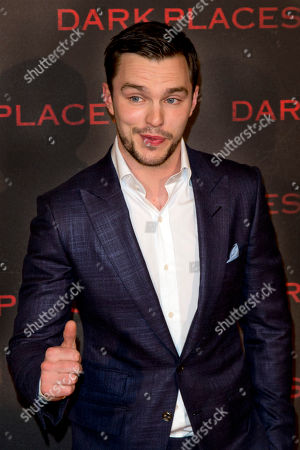 """Actor Nicholas Hoult poses during a photocall for the french premiere of """"Dark Places"""" by French director Gilles Paquet-Brenner, in Paris, France"""