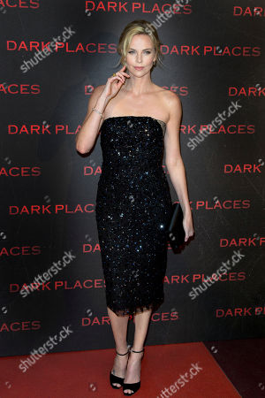 """Charlize Theron poses during a photocall for the French premiere of """"Dark Places"""" by French director Gilles Paquet-Brenner, in Paris, France"""
