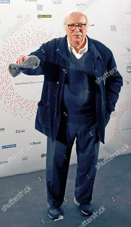 """French director Jean Becker attends the photocall an exhibition """"Des Lumieres! Le Cinema Invente"""" (some lights ! invented movies) in Paris, France"""