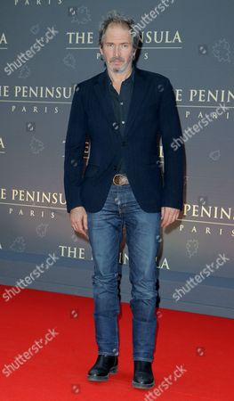 Christopher Thompson French actor Christopher Thompson poses during a photocall on the red carpet at the Peninsula Paris luxury hotel inauguration ceremony in Paris