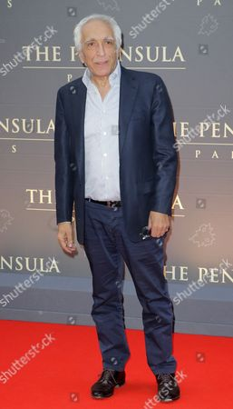 Gerard Darmon French actor Gerard Darmon poses during a photocall on the red carpet at the Peninsula Paris luxury hotel inauguration ceremony in Paris