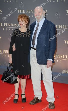 Agathe Natanson, Jean-Pierre Marielle French actor Jean-Pierre Marielle and his wife French actress Agathe Natanson pose during a photocall on the red carpet at the Peninsula Paris luxury hotel inauguration ceremony in Paris