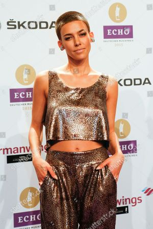 Alina Sueggeler, singer of the band Frida Gold arrives for the 2015 Echo Music Awards in Berlin, . The German music awards are held every year by the German Phono academy