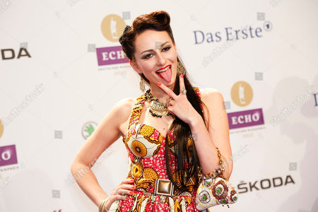 Stock Picture of Singer Marla Blumenblatt arrives for the 2015 Echo Music Awards in Berlin, . The German music awards are held every year by the German Phono academy