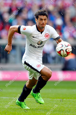 Frankfurt's Nelson Valdez from Paraguay controls the ball during the German first division Bundesliga soccer match between FC Bayern Munich and Eintracht Frankfurt in the Allianz Arena in Munich, Germany, on
