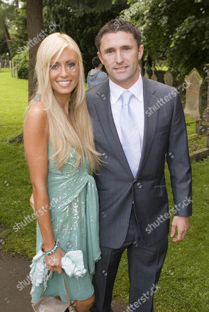Robbie Keane and Claudine Palmer