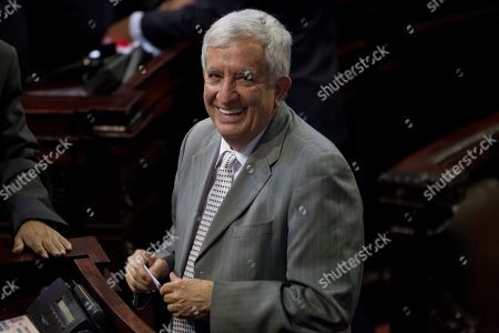 Oliverio Garcia Rodas Lawmaker Oliverio Garcia Rodas smiles during elections for a new Guatemalan Vice President to replace Roxana Baldetti, who resigned on Friday, inside Congress in Guatemala City, . Garcia Rodas in one of three nominees for the post. The Former Vice President Baldetti resigned Friday, May 8, and gave up her immunity from possible prosecution after her former private secretary Juan Carlos Monzon Rojas was accused of being the ringleader of a scheme to defraud the state of millions of dollars by taking bribes in exchange for lower customs duties