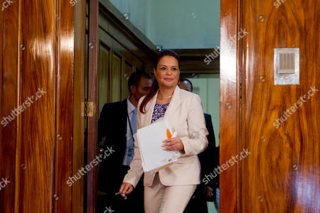 Roxana Baldetti Guatemala's Vice President Roxana Baldetti arrives to a press conference at the presidential house in Guatemala City, . Baldetti's private secretary, Juan Carlos Monzon, has been identified by the authorities as the alleged ringleader of an organization dedicated to defraud the state through corruption and theft