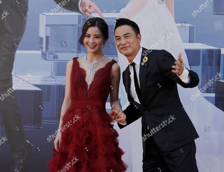 Charlene Choi, Simon Yam Hong Kong actress Charlene Choi and actor Simon Yam pose on the red carpet of the Hong Kong Film Awards in Hong Kong